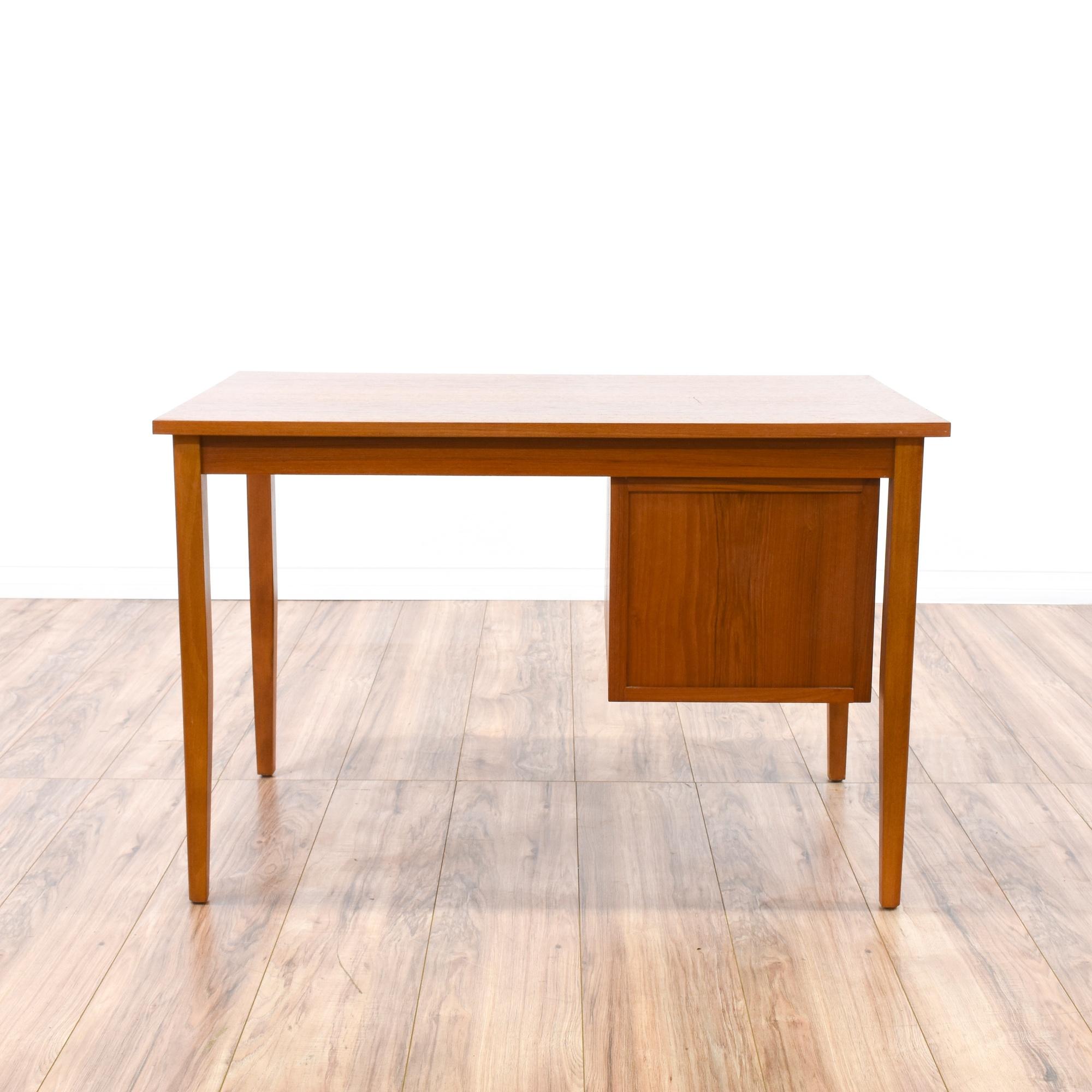 Danish modern teak 3 drawer desk loveseat vintage for Danish modern la