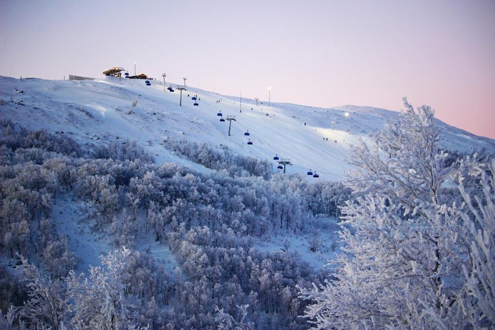 Utsikt över berget i Tänndalen