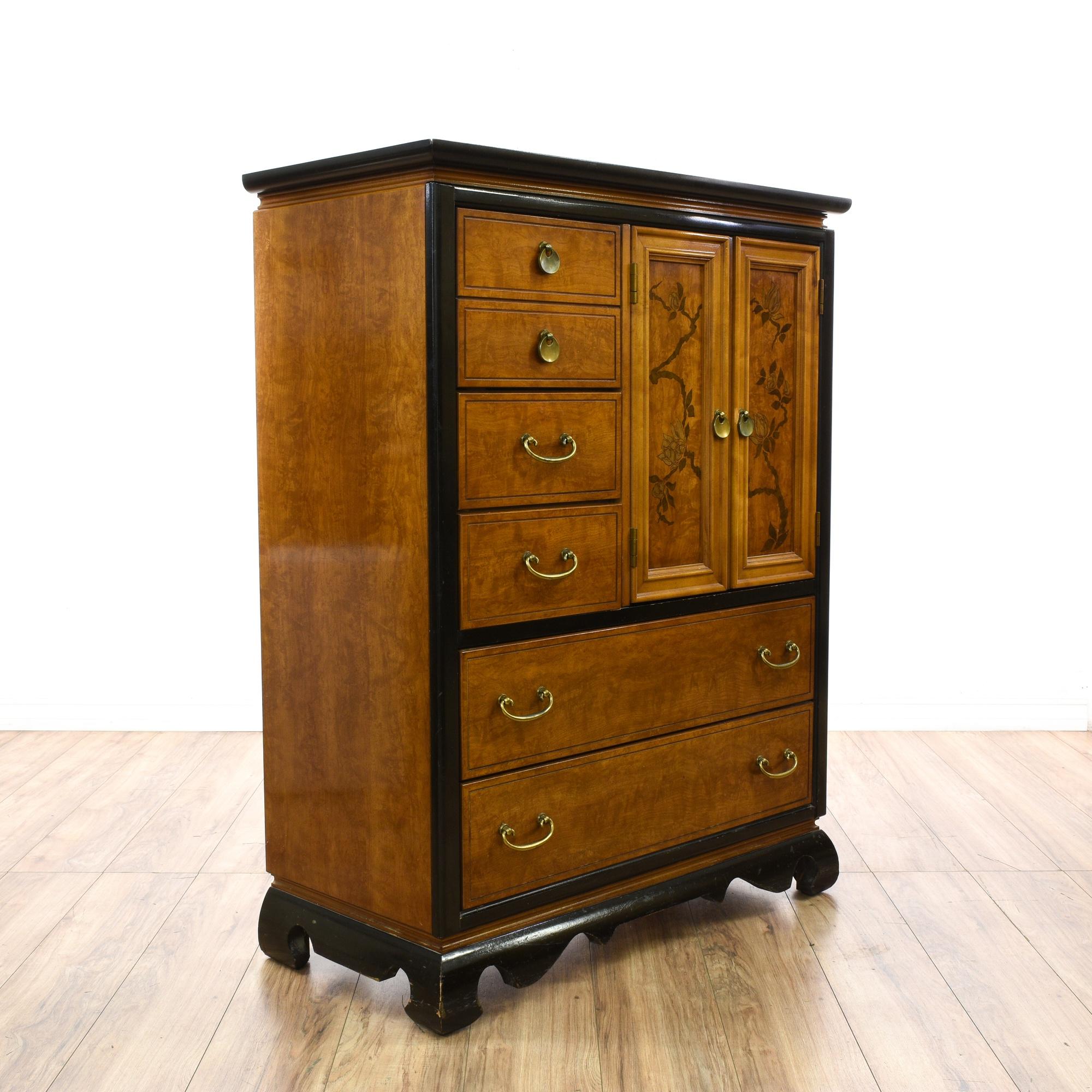 Asian tall dresser gentleman 39 s chest loveseat vintage for Japanese furniture san diego