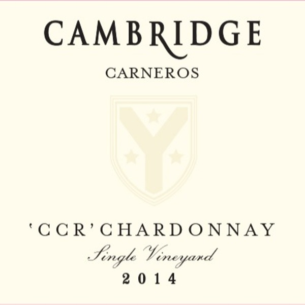 Cambridge Cellars CCR Single Vineyard Carneros 2014 Chardonnay