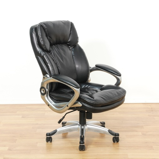 contemporary black executive office chair loveseat