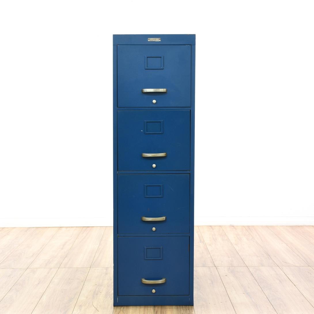 Sears Roebuck Navy Blue Steel Filing Cabinet Loveseat Vintage Furniture San Diego Los