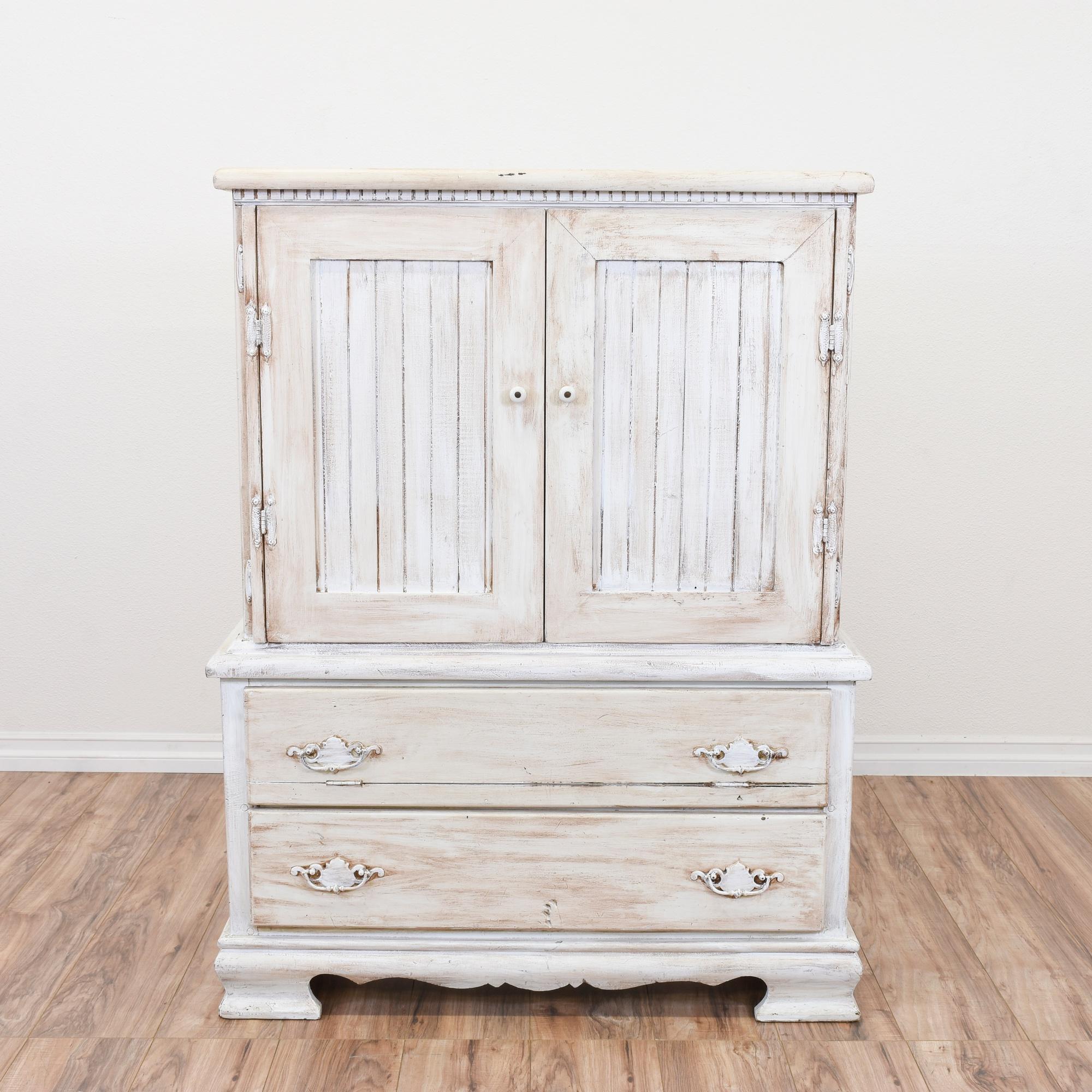White Shabby Chic Wardrobe Armoire