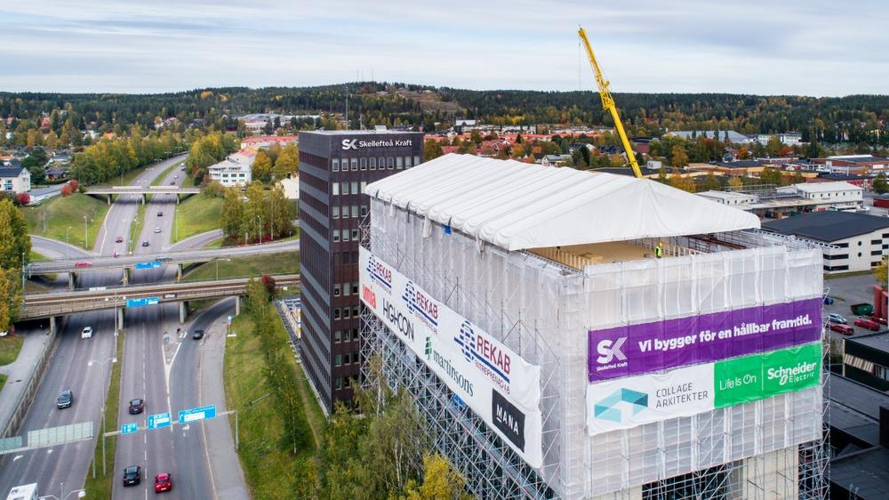 Påbyggnad Skellefteå Kraft