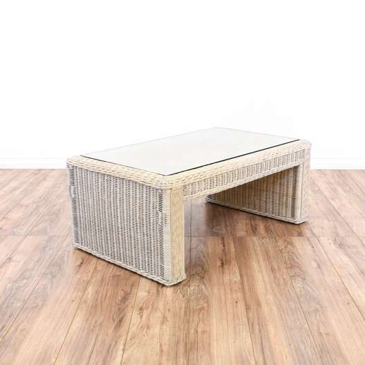 Used White Wicker Coffee Table: Used & Vintage Coffee Tables