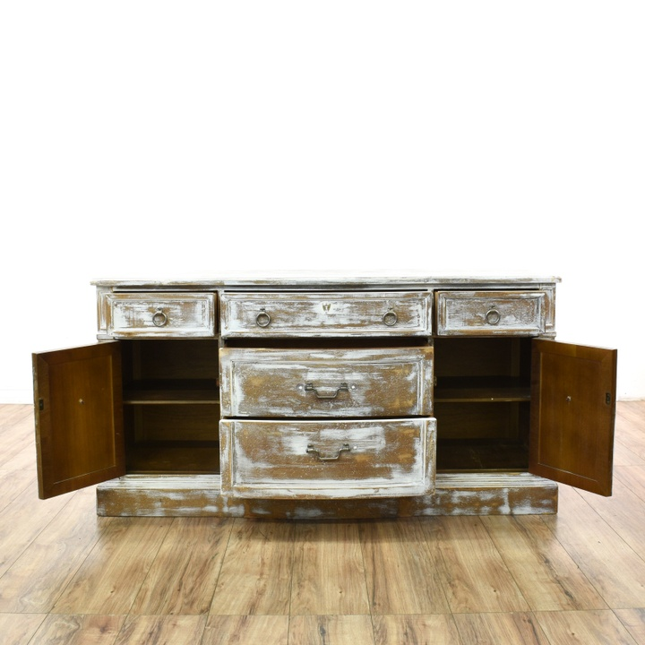Mobile Buffet Shabby Chic.Shabby Chic Whitewashed Buffet Sideboard Loveseat Online Auctions San Diego