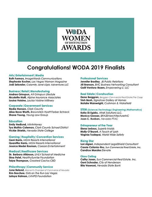 Women of Distinction Foundation - WODA 2019