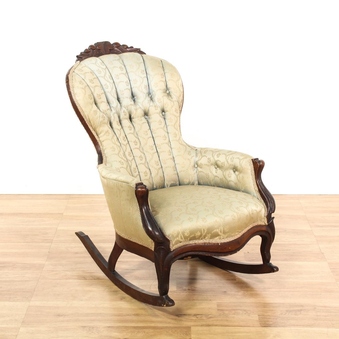 Victorian rocker rocking chair loveseat vintage