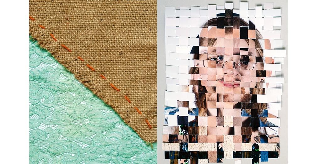 Pressbilder från Textillinjen (till höger) och Fotolinjen (till vänster).