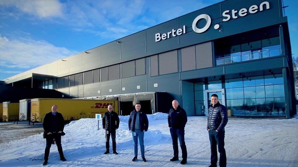 From left: Andreas Bjørnhaug, CEO for Consafe Logistics AS; Ole Christian Richstad, Transport & QA Manager for Bertel O. Steen; Frode Ekra Olsen, IT Manager for Bertel O. Steen; Odd Erik Tømte, Logistics Manager for Bertel O. Steen; Rune Kristians.