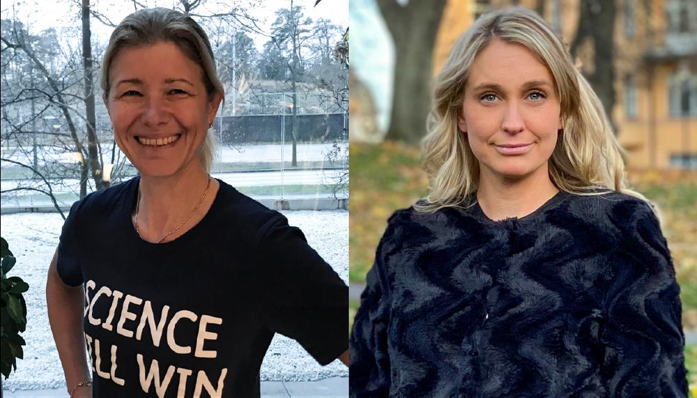 Malin Parkler, vd på Pfizer Sverige och Helena Strigård, vd för SwedenBIO, branschorganisationen för life science-industrin