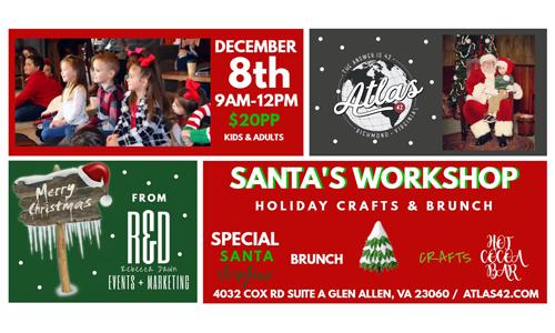 Atlas 42 - Santa's Workshop - December 8, 2019, 9am