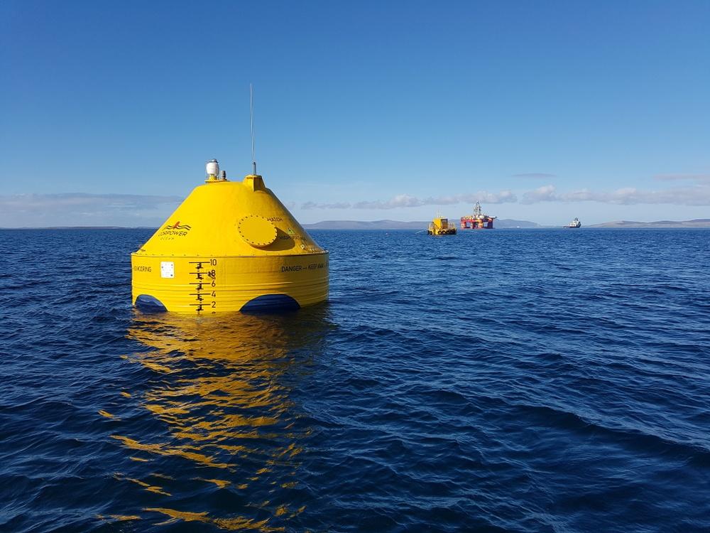 CorPowers vågkraftverk i havet