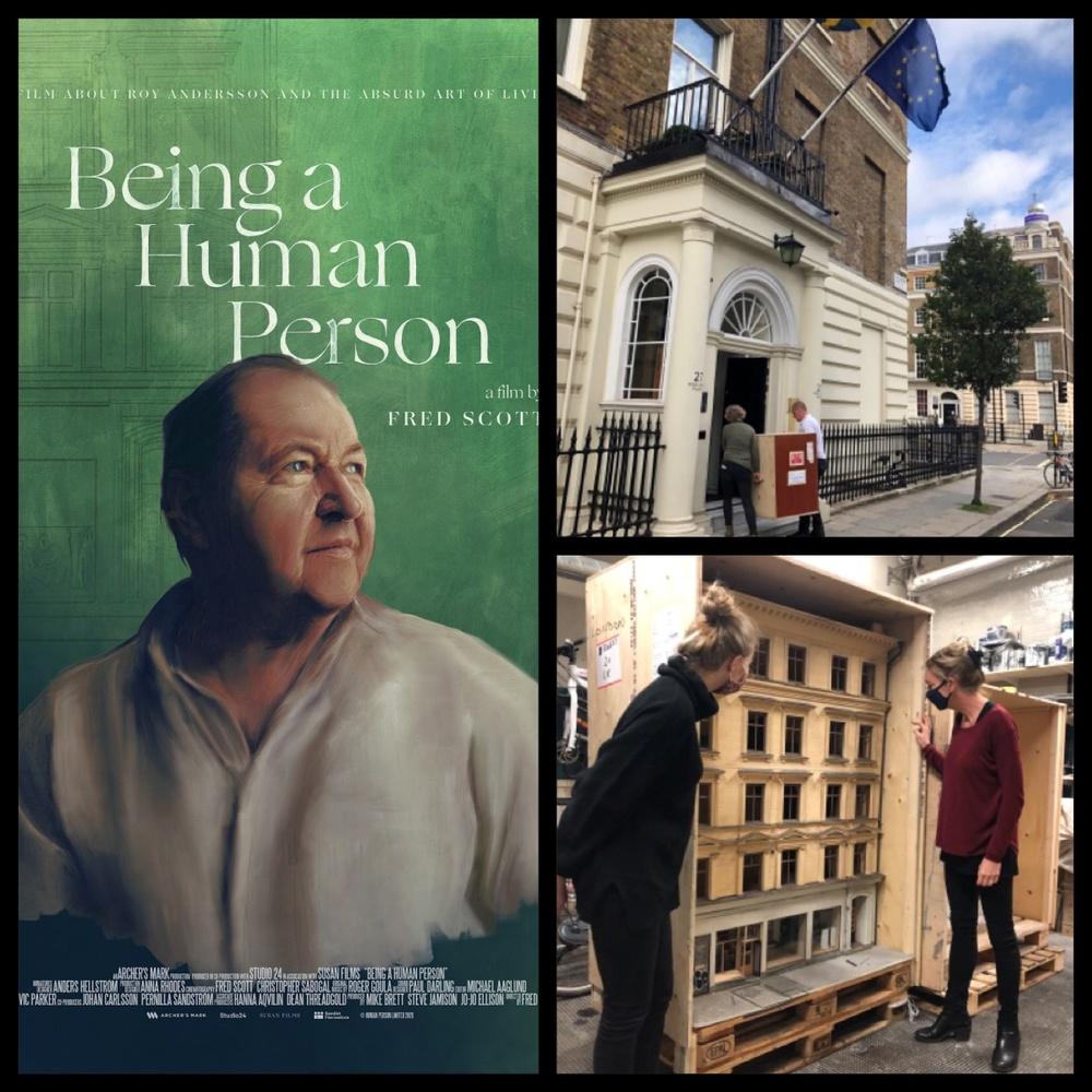 Ny dokumentär om Roy Andersson visas just nu i Storbritannien tillsammans med en utställning av bakommaterial till hans filmer i Sveriges ambassads residens i London. Fotograf/Källa: Pia Lundberg, Åsa Höjer m fl.