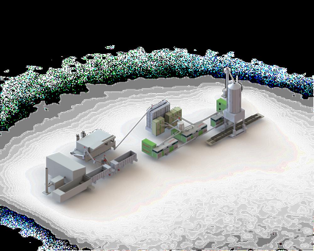 Illustration av den nya pelletsanläggningen.