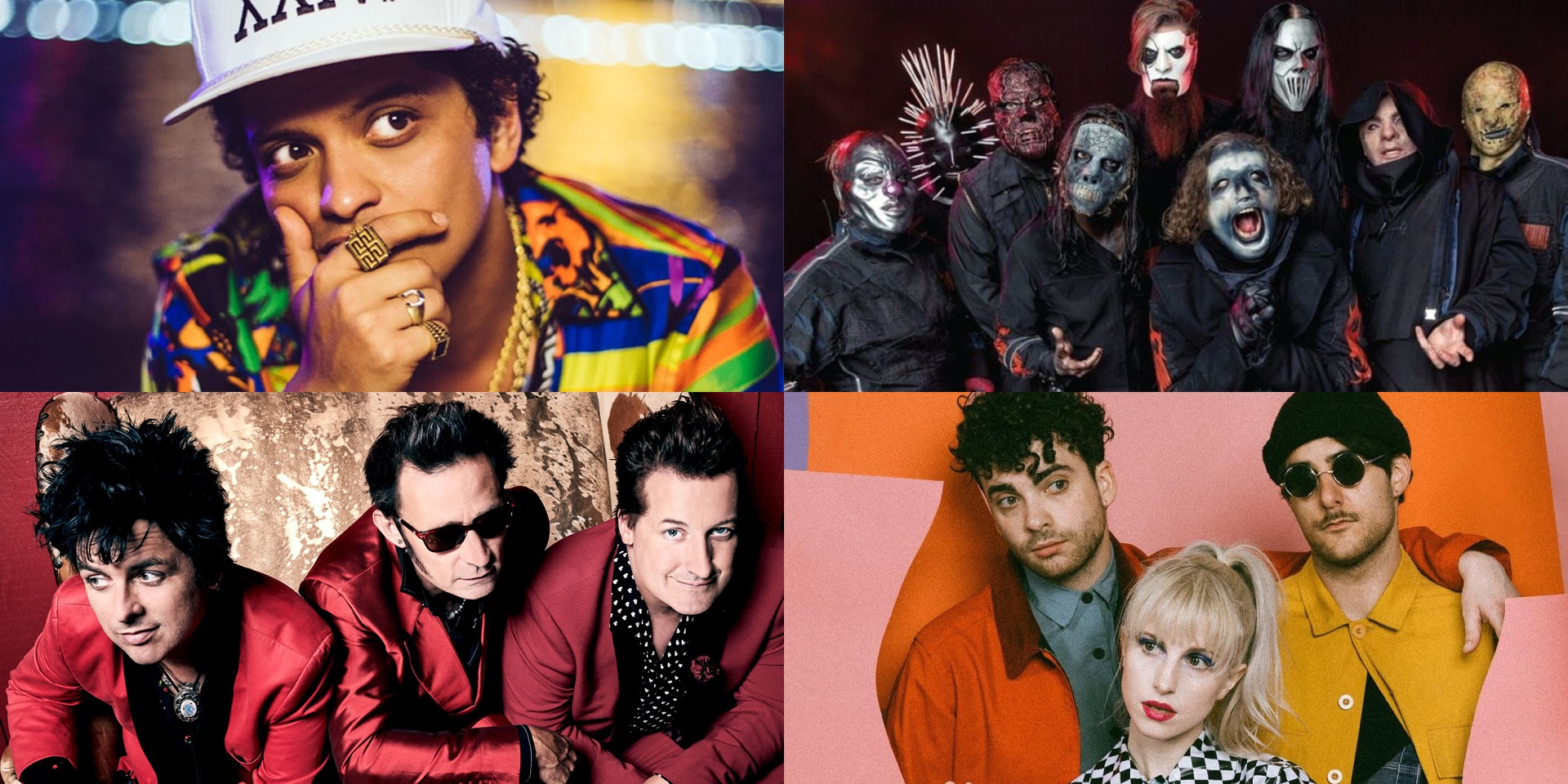 Live sets by Bruno Mars, Slipknot, Green Day, Paramore, and more to stream on PlayOn Fest digital music festival