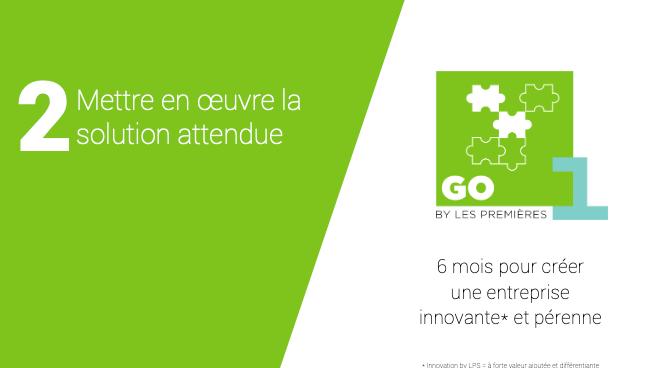 Représentation de la formation : Programme GO-1ère : Création d'une entreprise innovante (Etape 2 sur 3)