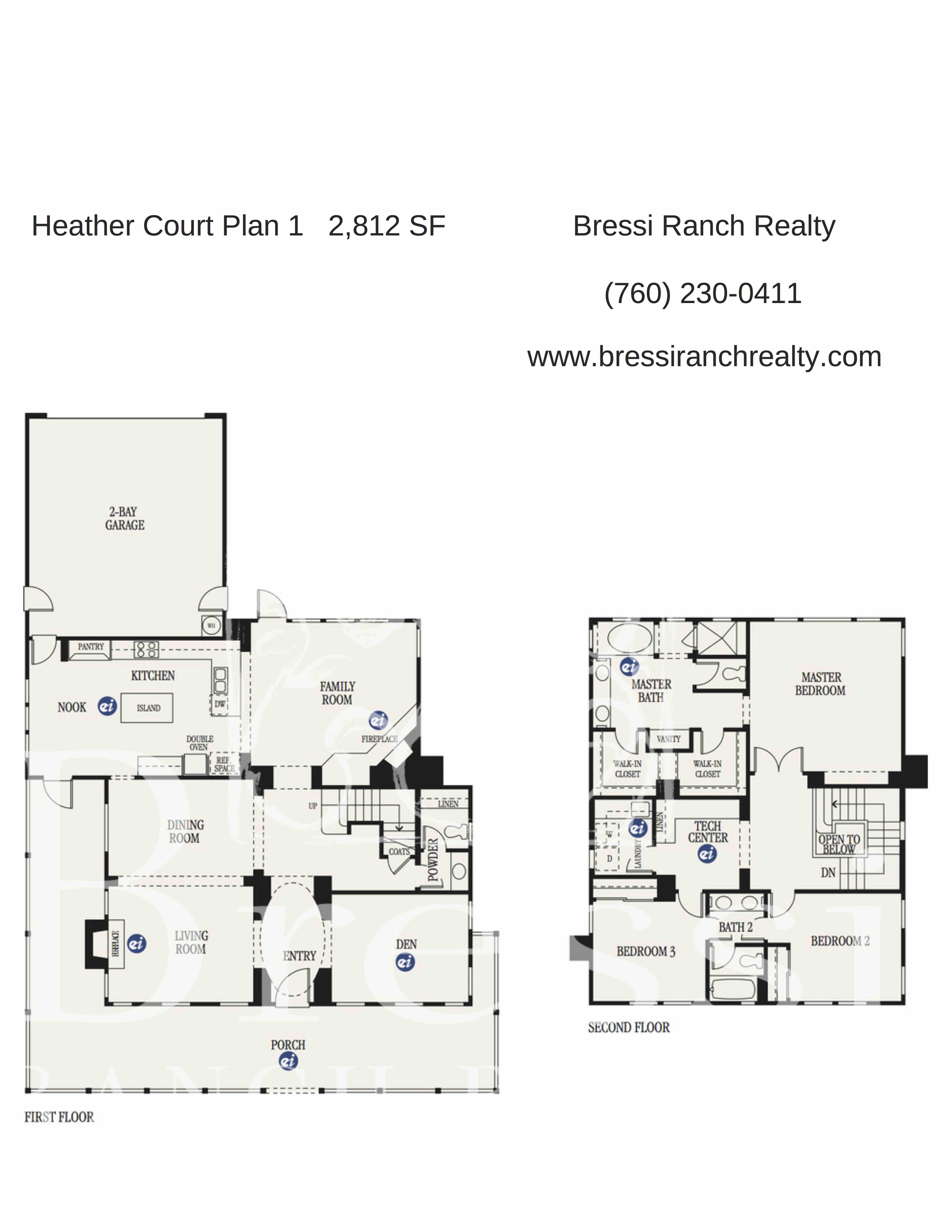 Heather Court Plan 1 Bressi Ranch