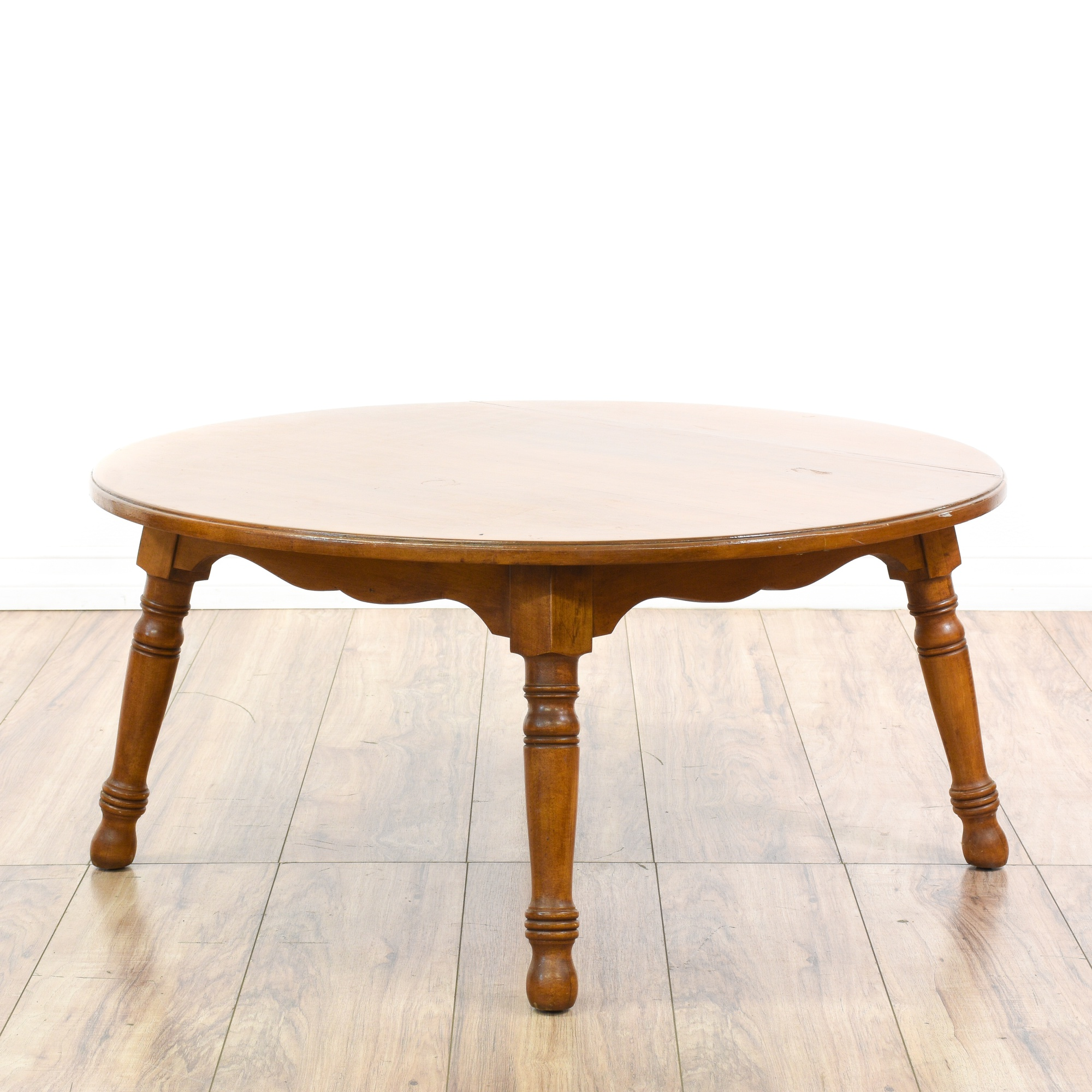 "Pennsylvania House"" Round Maple Coffee Table"