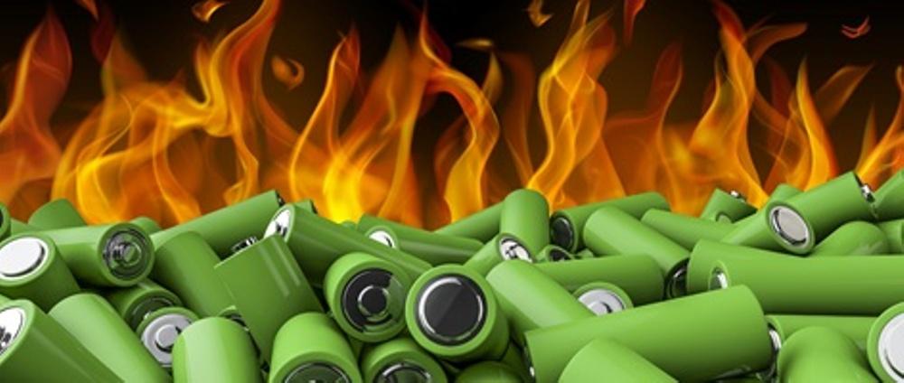 Brand i litiumbatterier