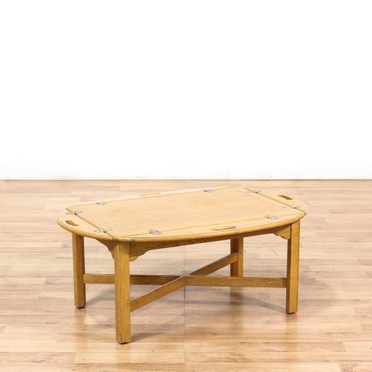 Oval Oak Butler Style Coffee Table