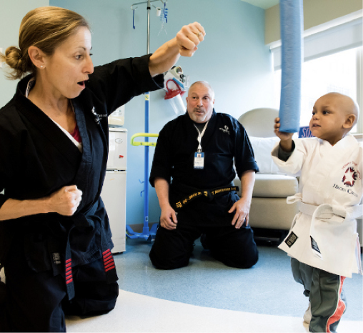 Martial Arts Helps Kids with Cancer