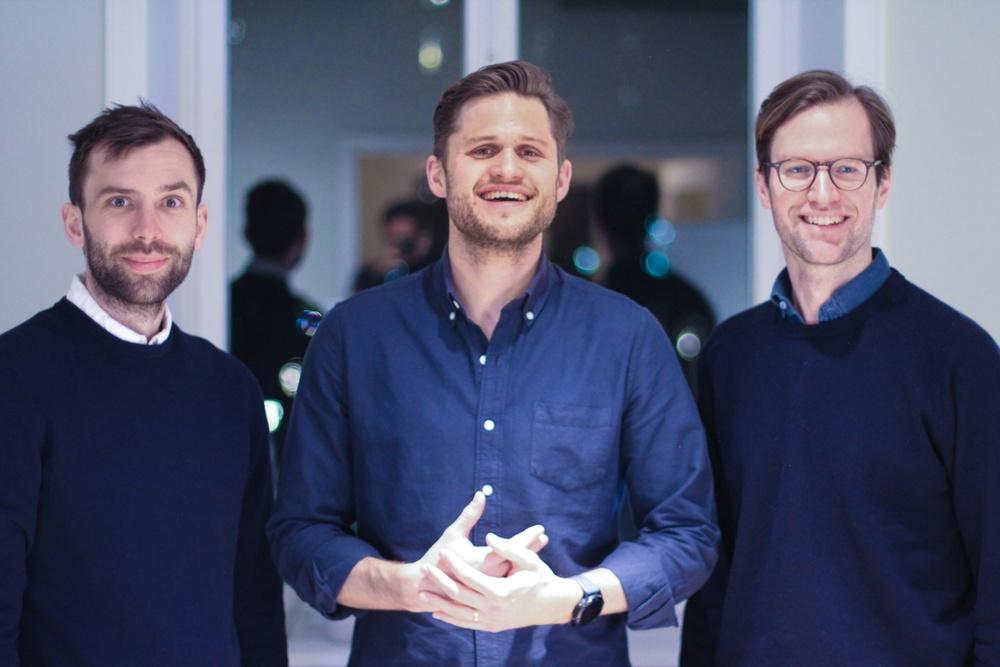 Grundare Alva Labs, från höger grundare Björn Ström, grundare och vd Malcolm Brestam samt grundare Peter Schierenbeck