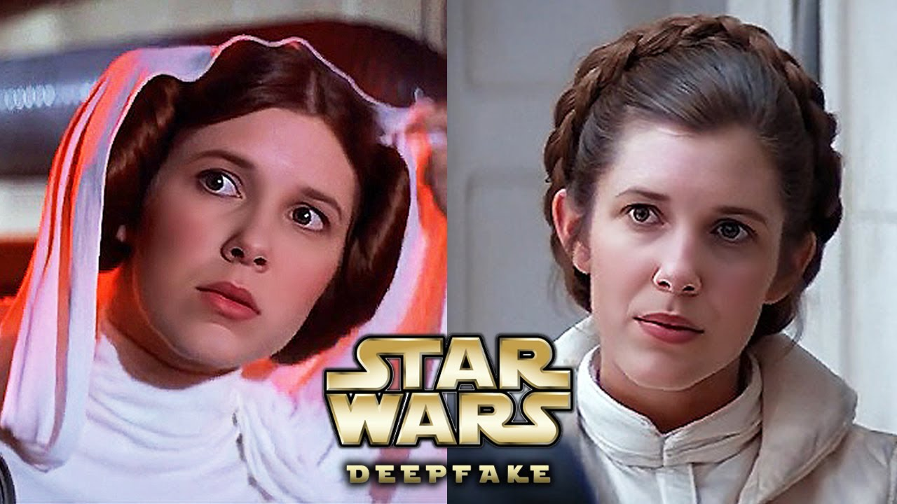 Carrie Fisher (left) and Millie Bobby Brown (right)