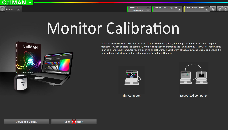 CalMAN Home - Monitor Calibration Walkthrough