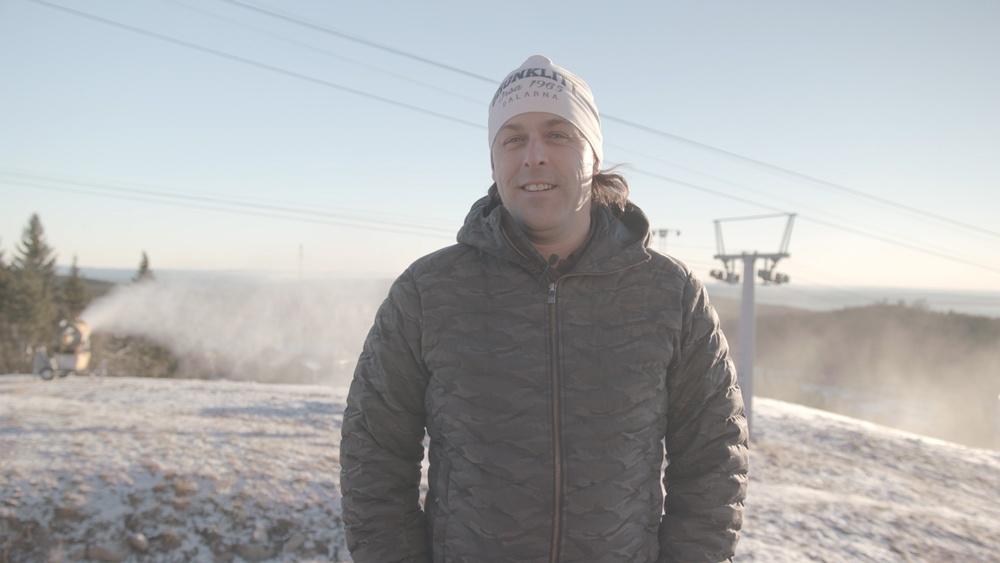 Johan Larson på toppen av Orsa Grönktlitt