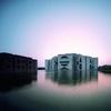 Bangladesh National Assembly, Exterior and Lake [2] (Dhaka, Bangladesh, n.d.)
