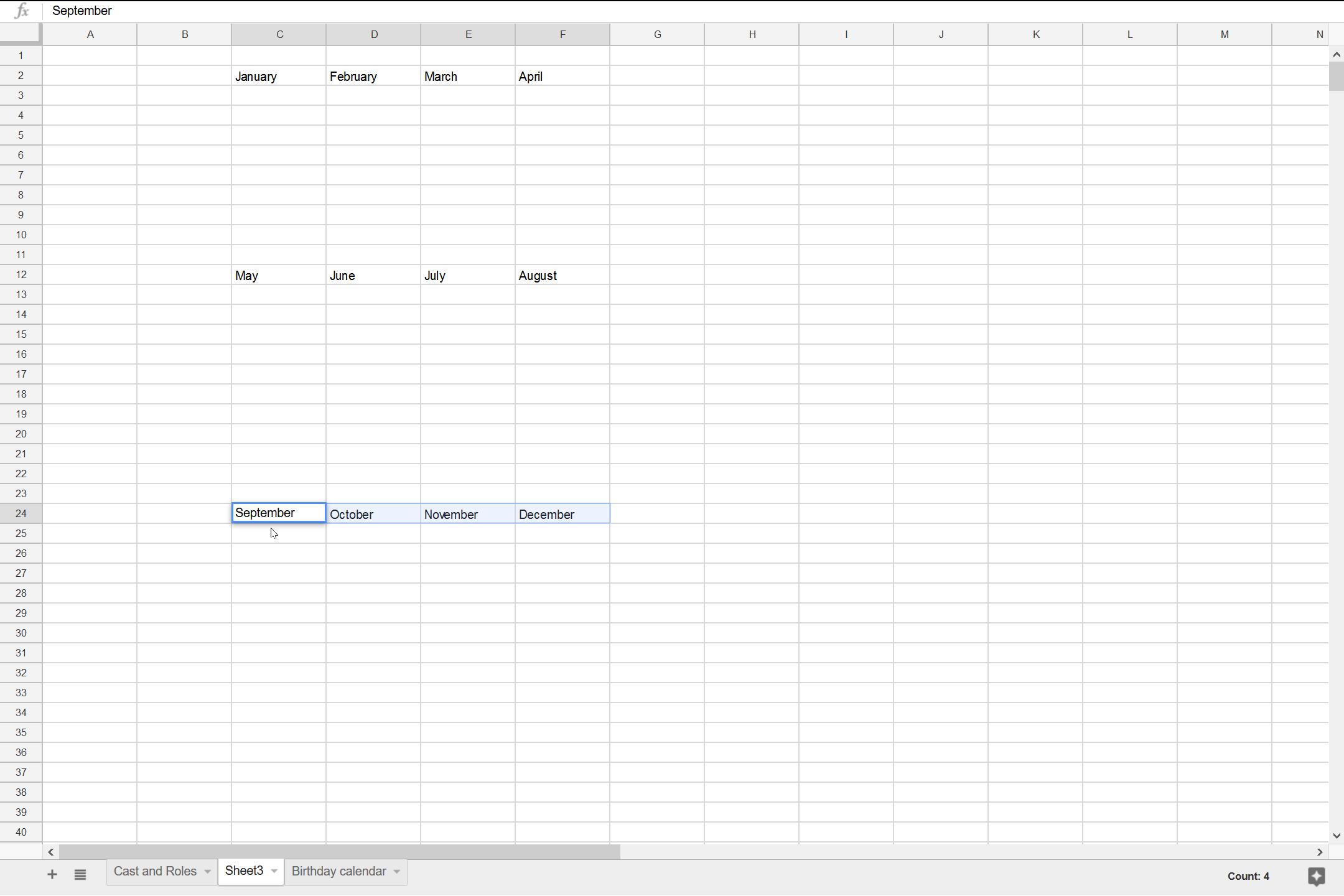 Building the Calendar - 03