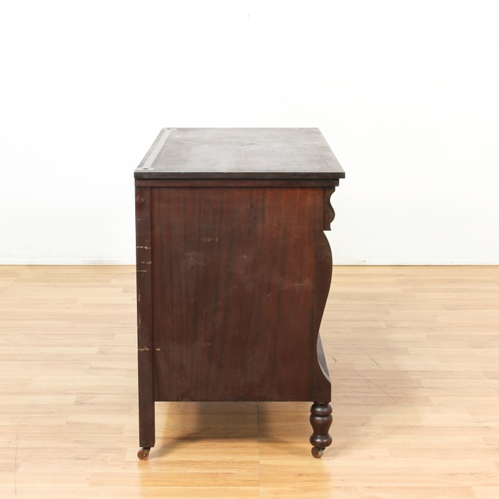 4 drawer antique dark wood long dresser loveseat vintage for Reclaimed wood furniture los angeles