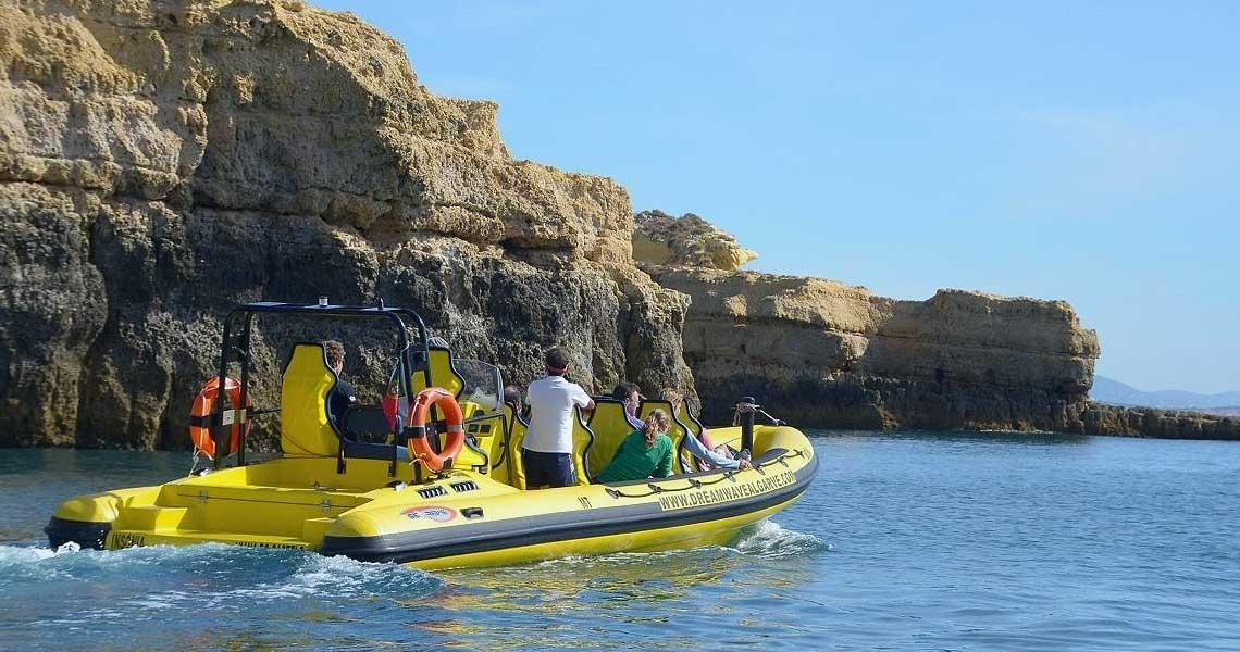 Algarve Caves and Dolphin Watching Small Group Boat Tour