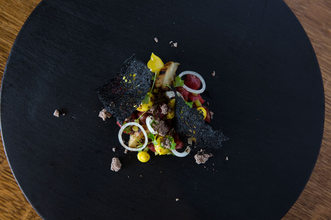 Holstein Friesian, barbecued celeriac, mustard, shallot
