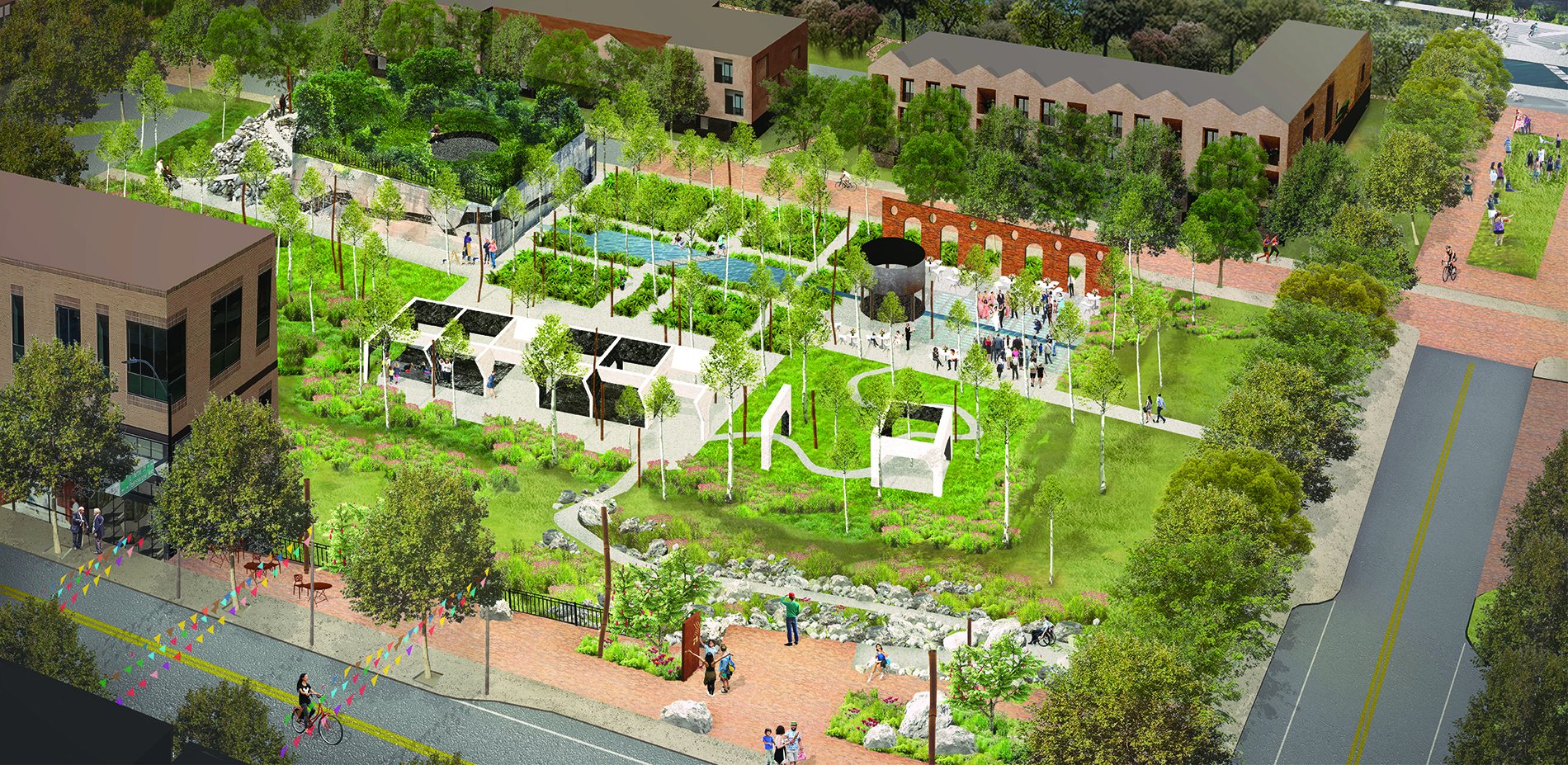 Anthracite Garden + Mixed Use Development: Connecting Town and Trail