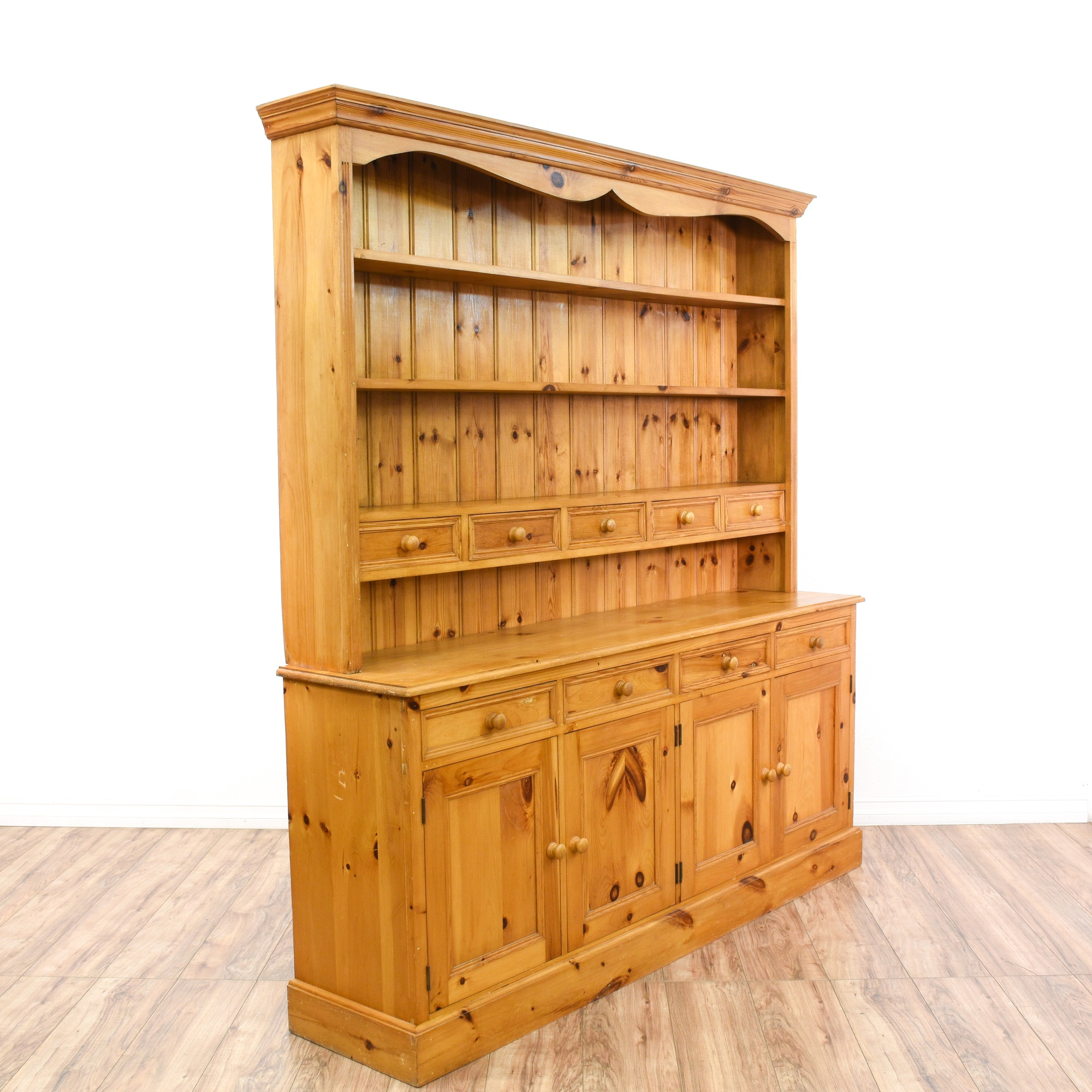 Country Chic Pine Display Hutch