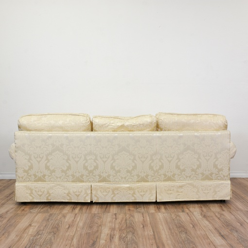 Quot Krause S Quot Cream Floral Damask Sofa Loveseat Vintage