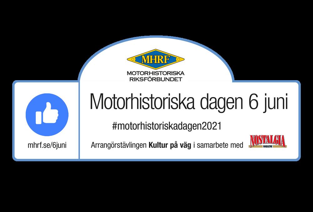 Fordonsskylt för Motorhistoriska dagen 2021