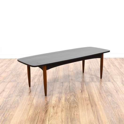 Mid Century Modern Dark Wood Coffee Table