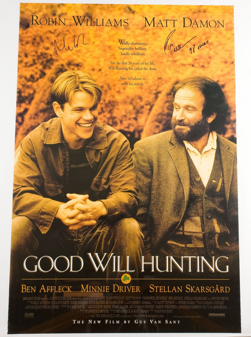 Good Will Hunting Signed By Matt Damon Robin Williams Collectionzz