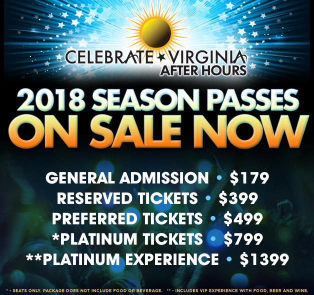 CVAH- 2018 Celebrate Virginia After Hours Season Passes