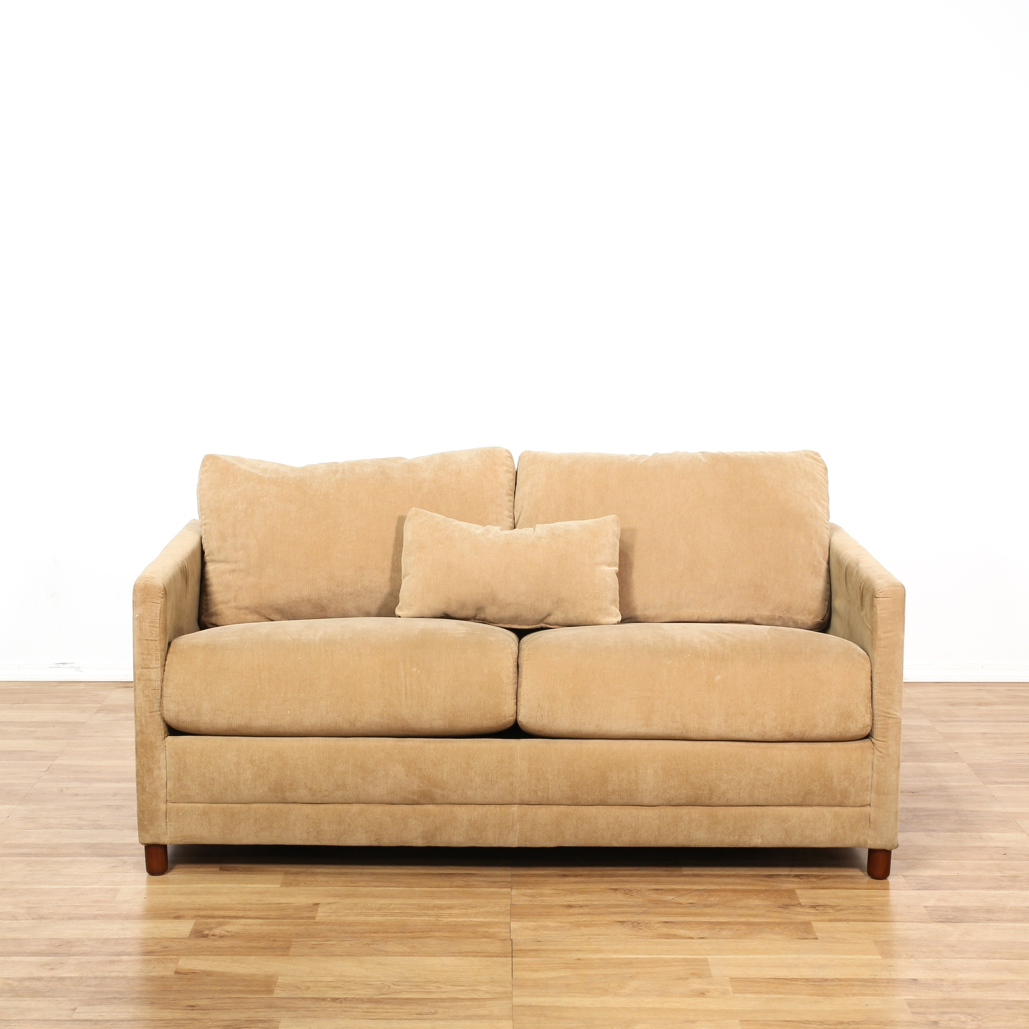 baker brown corduroy loveseat sleeper sofa loveseat
