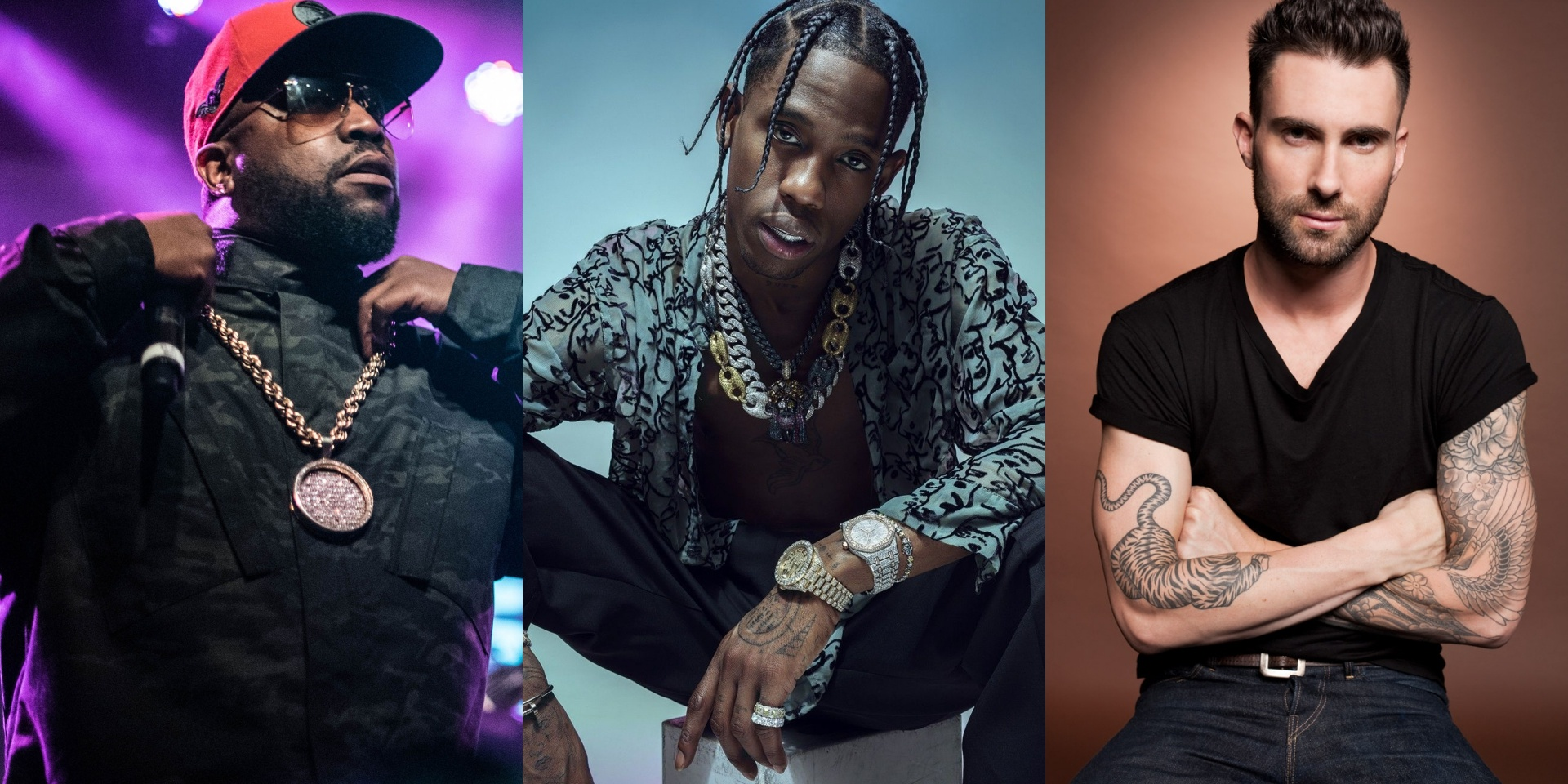 Maroon 5, Travis Scott and Big Boi perform at the 2019 Super Bowl Halftime Show – watch