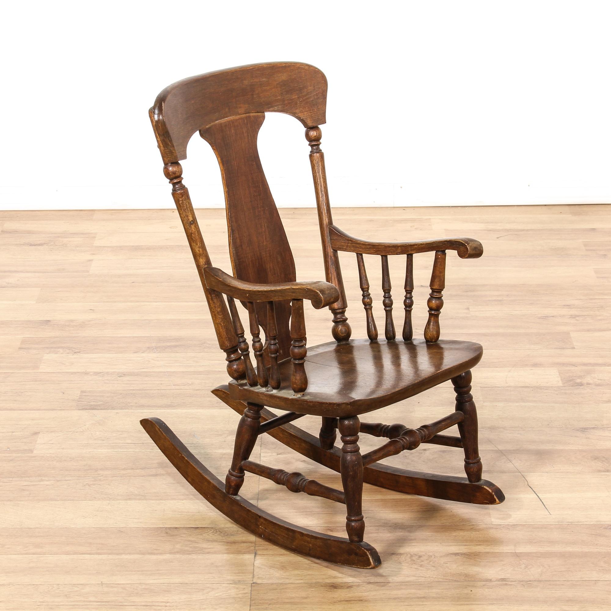 Antique child s rocking chair loveseat vintage furniture