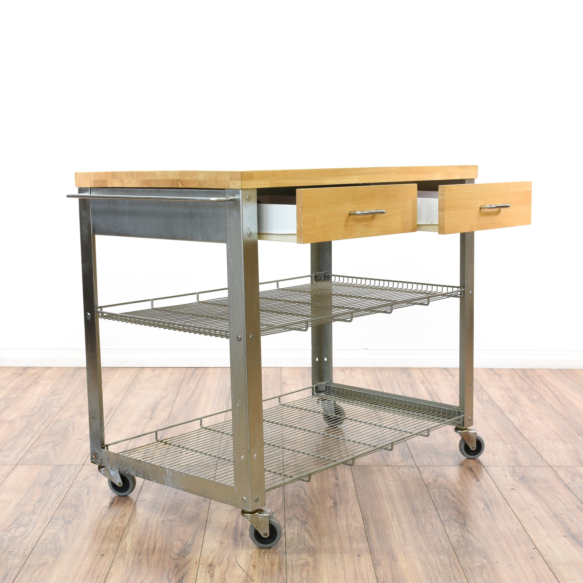 Rolling Stainless Steel Kitchen Island Cart