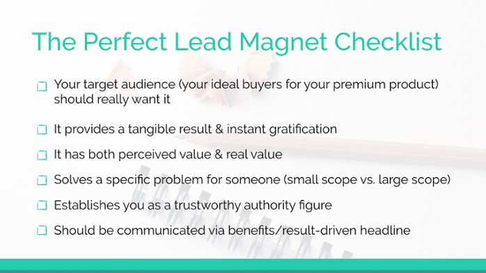 The perfect lead magnet checklist