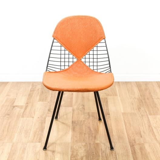 early eames herman miller wire chair model dkx 2 loveseat