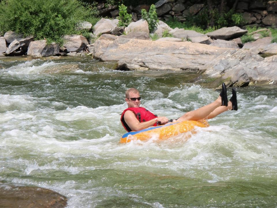 white water guided tubing - harpers ferry