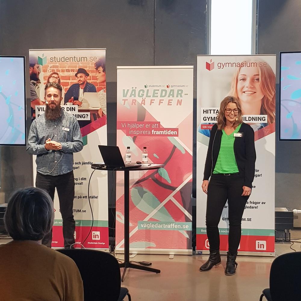 CSN, Centrala Studiestödsnämnden, berättade för studie- och yrkesvägledare i Malmö om sitt arbete med att göra studier möjligt.